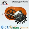 AC motor with base plate