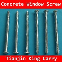 Zinc Plated Concrete Window Screw from China Supplier(100pcs/box)