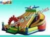 2012 plane shape inflatale amusement park,inflatable fun-city