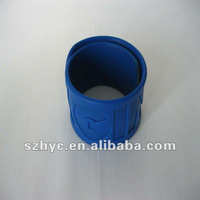 High quality colorful silicone slap wristband
