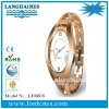 hot sell fashion stainless steel MOP dial watch lady's rose gold watch LH6606