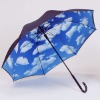 Automatic open J handle straight umbrella