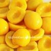IQF yellow peach halves