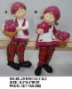 2asst valentine products (kids with fabric legs in polyresin for decorations)