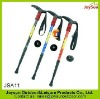 Hot selling anti-shock 4 section extendable alpenstock hiking climbing walking stick for woman