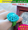 Vintage turquoise ring turquoise gemstone ring manmade top quality exquisite design