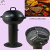 3-grid round charcoal BBQ grill