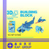 plastic 3D plane buidling block toy