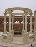 white marble gazebo sculpture