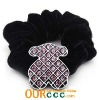 2012 Lovely Pink Bear Scrunchies For Kids