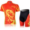 2012 MONTON Red And Yellow Dragon Sport Cycling Clothing Suit + Short + COOL