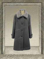 61699-middle grey- women winter fashion overcoat