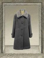 61699-middle grey- women winter fashion overcoat