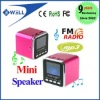Digital portable Speaker Mini Speaker MP3 Player USB Disk Micro SD TF Card FM Radio Line In/ Out sound box