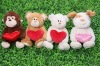 Plush & stuffed valentine animal bear with a heart toy