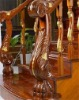 wooden stair handrail and balustrade