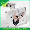 transparent acrylic picture frame or photo block with magnet