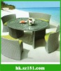 outdoor rattan funiture table set