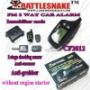 two way car alarm system English version Anti-hijacking 2-stage shocking sensorLong distance 1000m without engine starter