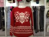 100% superfine merino wool lady knitted fashion warm jacquard pullover sweater