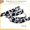 Black and White Lepeord Ribbon For Garment