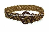 fashion lady braided belt pu