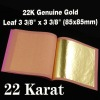 22KT Genuine Gold Leaves