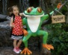 Rainforest restaurant fiberglass frog man model