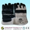 Leather palm gloves,cow split working glove