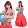 sparkling red costume belly dance,belly dancing costumes,BellyQueen