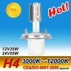 H4 ceramics base 3000k Gold HID xenon lamp