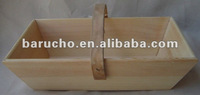 Wood tray with fixed handle