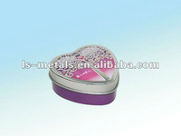 Heart Shape Chocolate Gift Tin Packing Box
