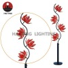Flower floor lamp metal base