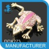 Frog Alloy crystal China Wholesale Brooches 2012 new designs