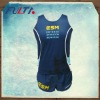 Women running singlet and shorts with sublimation