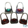 Fashion Bag Shaped Crystal Folding Purse Hook Handbag Hanger Holder Varied Color