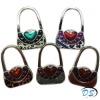 Fashion Bag Shaped Crystal Folding Purse Hook Handbag Hanger Holder Varied Color