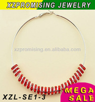 women's popular shamballa hoop earring wholesale