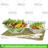 hot frosted glass salad bowl set,fashionable salad bowl