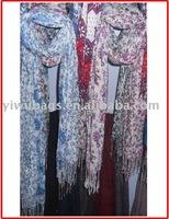 lastest flower garden printed scarf
