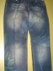 cotton transfer print jeans fabric