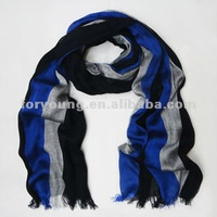 black grey blue striped mens summer scarves