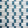 marble and glass mixed mosaic tile