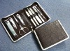 promotional lady cosmetic manicure set in PU case