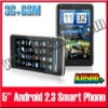 NEW GPS WiFi Unlocked GSM+3G 5 inch Android 2.3 A8500+ Phone