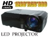 2600 lumen Home theater LED projector with USB+HDMI+AV+VGA+YPbPr/YCbCr