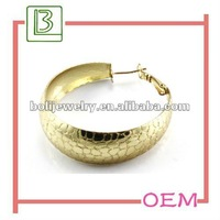Golden Metal Big Hoop earrings