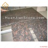 red granite kitchen countertop