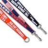 Eco friendly polyester woven logo lanyard